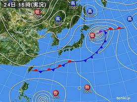 実況天気図(2012年09月24日)
