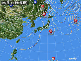 実況天気図(2012年10月29日)