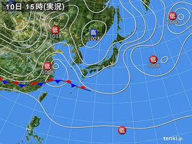 実況天気図(2012年11月10日)