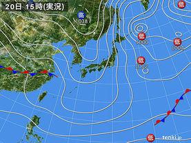 実況天気図(2013年01月20日)