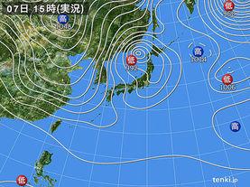 実況天気図(2013年02月07日)