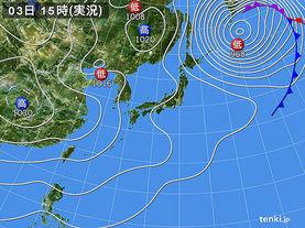 実況天気図(2013年03月03日)