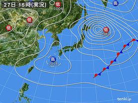 実況天気図(2013年04月27日)