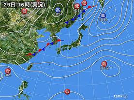 実況天気図(2013年09月29日)