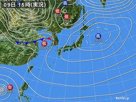 実況天気図(2013年11月09日)