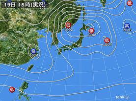 実況天気図(2013年11月19日)