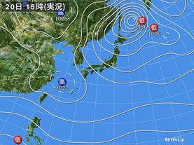 実況天気図(2013年11月20日)