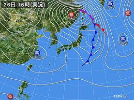 実況天気図(2013年11月26日)