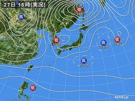 実況天気図(2013年11月27日)