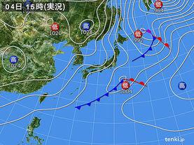 実況天気図(2014年01月04日)