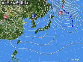 実況天気図(2014年02月05日)