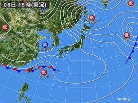 実況天気図(2014年03月08日)