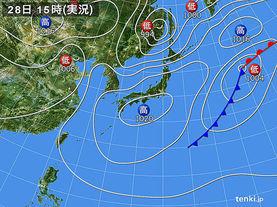 実況天気図(2014年03月28日)
