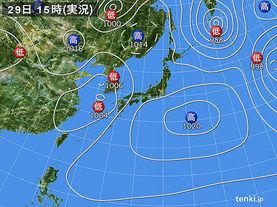 実況天気図(2014年03月29日)