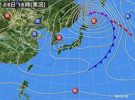 実況天気図(2014年04月05日)