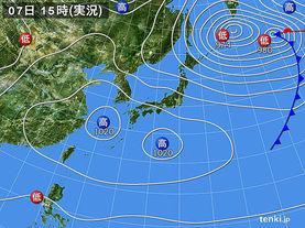 実況天気図(2014年04月07日)