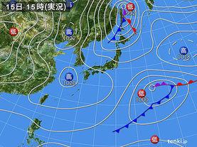 実況天気図(2014年04月15日)