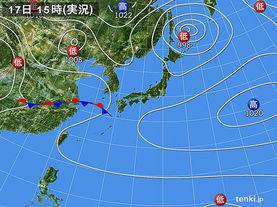 実況天気図(2014年04月17日)