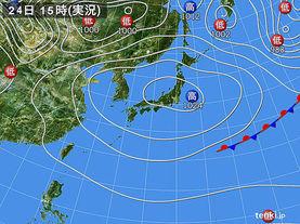 実況天気図(2014年04月24日)