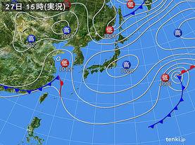 実況天気図(2014年04月27日)