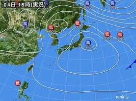実況天気図(2014年05月04日)