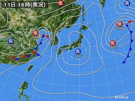 実況天気図(2014年05月11日)