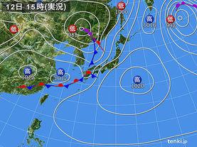 実況天気図(2014年05月12日)