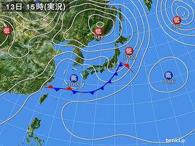 実況天気図(2014年05月13日)