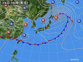 実況天気図(2014年05月16日)