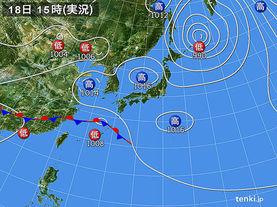 実況天気図(2014年05月18日)