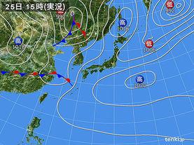 実況天気図(2014年05月25日)