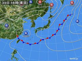 実況天気図(2014年05月30日)