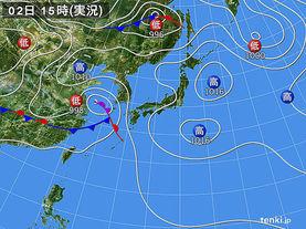 実況天気図(2014年06月02日)