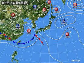 実況天気図(2014年06月03日)