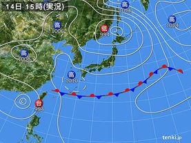 実況天気図(2014年06月14日)
