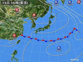 実況天気図(2014年06月15日)
