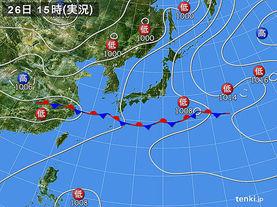 実況天気図(2014年06月26日)