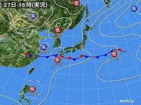 実況天気図(2014年06月27日)