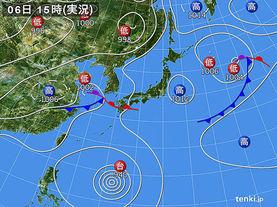 実況天気図(2014年07月06日)