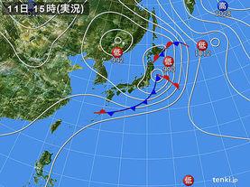 実況天気図(2014年07月11日)