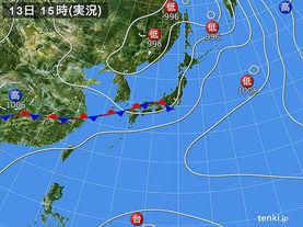 実況天気図(2014年07月13日)