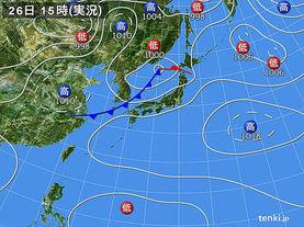 実況天気図(2014年07月26日)