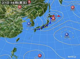 実況天気図(2014年07月27日)
