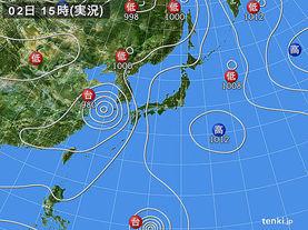 実況天気図(2014年08月02日)