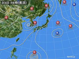 実況天気図(2014年08月03日)