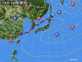 実況天気図(2014年08月19日)