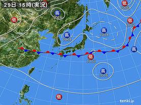 実況天気図(2014年08月29日)