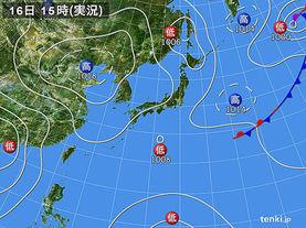 実況天気図(2014年09月16日)