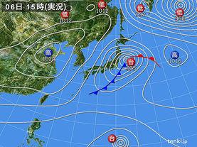 実況天気図(2014年10月06日)