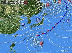 実況天気図(2014年11月04日)